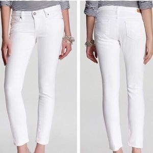 Paige Optic White Peg Skinny Jeans